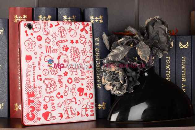 "Чехол-обложка для ipad2/new ipad 3 тематика ""pretty cute"" кожаный"