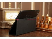 Фирменный чехол-футляр для iPad2/3/4 черный кожаный..