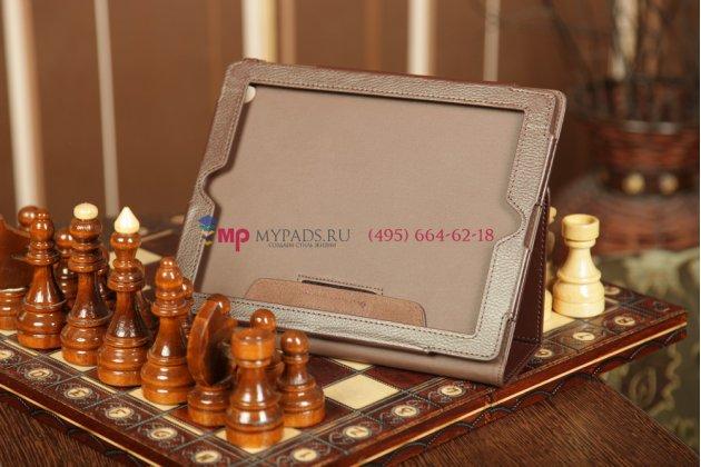 Чехол-сумка для ipad2/3/4 коричневый кожаный