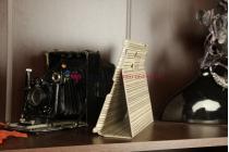 Чехол-обложка для ipad2/new ipad 3 бамбуковый светлый кожаный