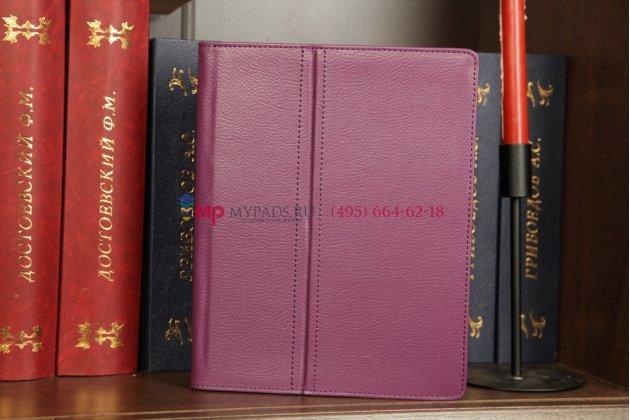 Чехол-обложка для ipad2/3/4 фиолетовый кожаный