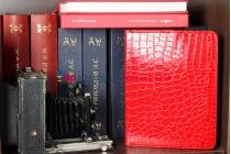 Чехол-обложка для ipad2/new ipad 3/ipad 4 роторный оборотный поворотный кожа крокодила алый огненный красный