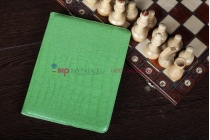 Чехол-обложка для ipad2/new ipad 3/ipad 4 роторный поворотный оборотный кожа крокодила зеленый