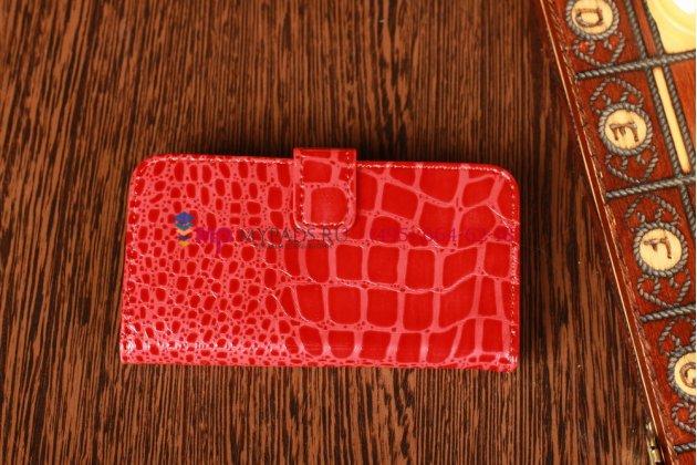 Чехол для apple iphone 5/ se/ 5se кожа крокодила красный