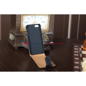 Чехол для apple iphone 5/ se/ 5se откидной черный кожаный