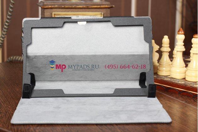 Чехол для microsoft surface/surface pro черный с секцией под клавиатуру кожаный