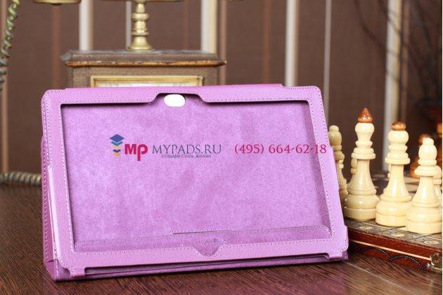 Чехол для microsoft surface/surface pro фиолетовый кожаный