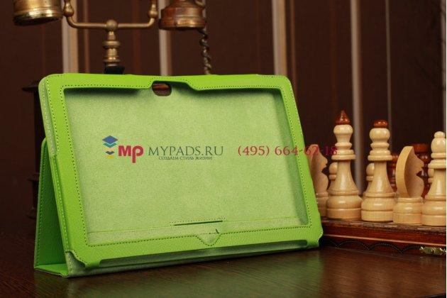 Чехол-обложка для microsoft surface/surface pro зеленый кожаный