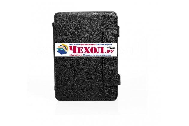 Чехол-обложка для pocketbook 611 basic черный кожаный