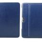Чехол-футляр для samsung galaxy note 10.1 n8000 из импортной кожи синего цвета