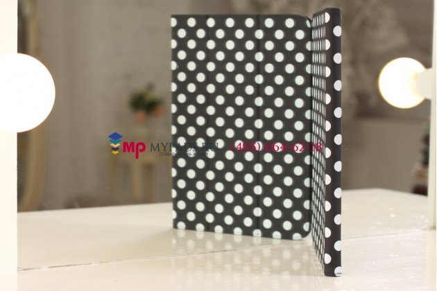 Чехол-обложка для samsung galaxy note 10.1 n8000 черно-белый далматинец