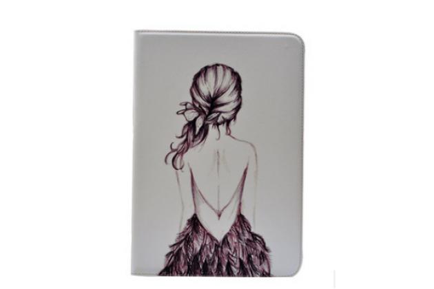 Уникальный необычный чехол-подставка для планшета samsung galaxy note 10.1 n8000  тематика модная девушка