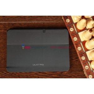 """Чехол с логотипом для samsung galaxy note 10.1 n8000 с дизайном """"book cover"""" черный"""