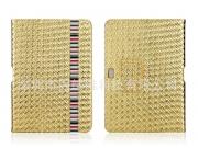 Эксклюзивный чехол для Samsung Galaxy Note 10.1 N8000/N8010 кожа крокодила золотой. Только в нашем магазине. К..