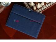 Чехол-сумка для Samsung Galaxy Note 10.1 N8000 джинсовый с кожей..