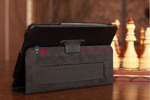 Чехол для samsung glaxy tab 7.0 plus p6200 черный кожаный