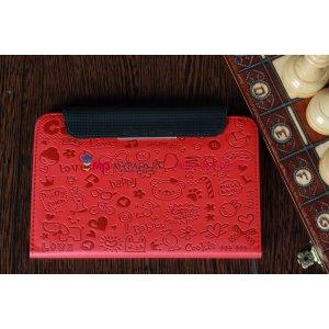 "Чехол для Samsung Galaxy Tab 2 7.0 P3100 ""тематика Pretty Cute"" красный кожаный"