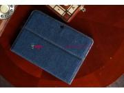 Чехол для Samsung Galaxy Tab 2 10.1 P5100 джинсовый с кожей..