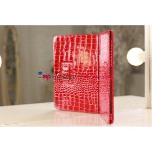 Лаковая блестящая кожа под крокодила фирменный чехол для Samsung Galaxy Tab 2 10.1 алый огненный красный
