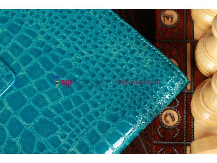 Лаковая блестящая кожа под крокодила чехол для samsung galaxy tab 2 10.1 кожа крокодила цвет морской волны..