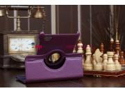 Чехол для Samsung Galaxy Tab 7.7 P6800 поворотный фиолетовый..