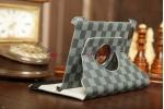 Чехол для Samsung 7.7 P6800 в клетку серый кожаный