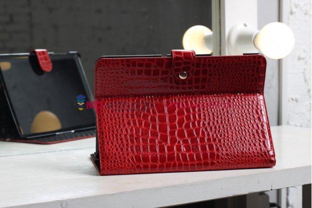 Чехол для samsung 8.9 p7300 кожа крокодила красный