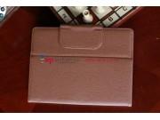 Чехол для Sony Xperia Tablet S коричневый кожаный..
