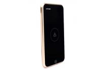 Противоударное беспроводное зарядное устройство в ультра-тонком металлическом корпусе на 10000 mAh  Love mei QR charger подходит для всех телефонов